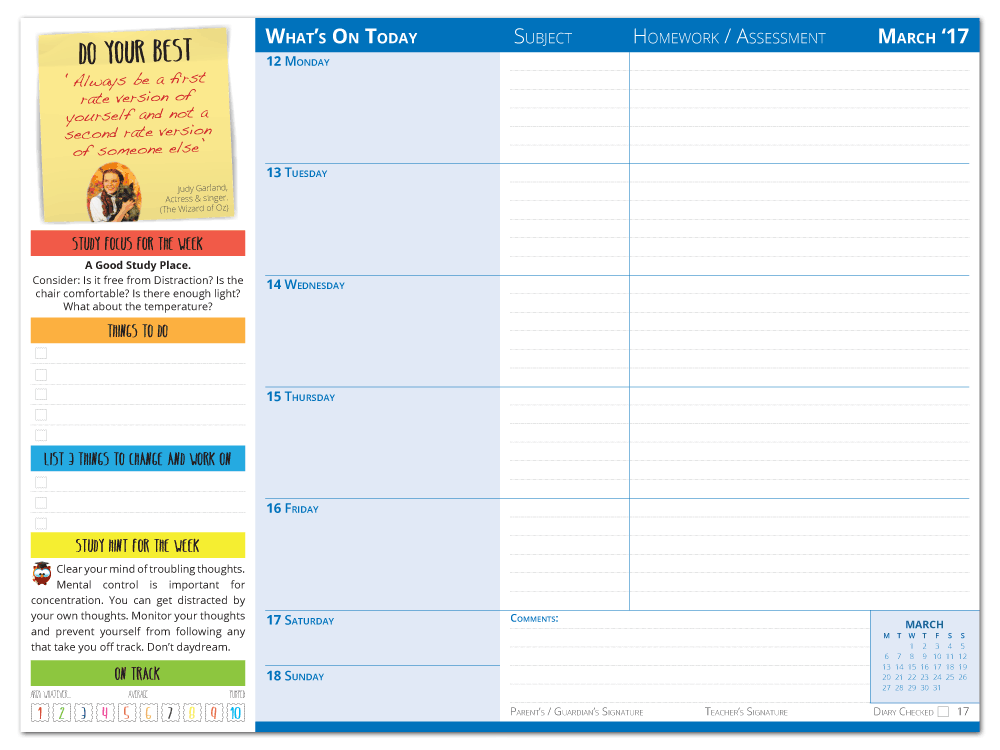 Diary Layout