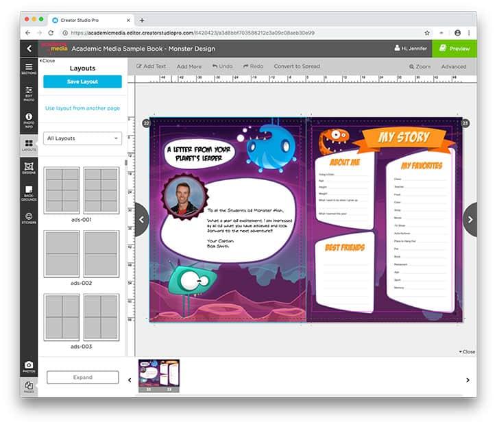 Yearbook Software Screenshot